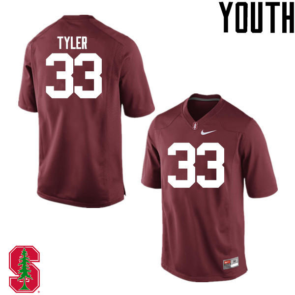 Youth Stanford Cardinal #33 Mike Tyler College Football Jerseys Sale-Cardinal