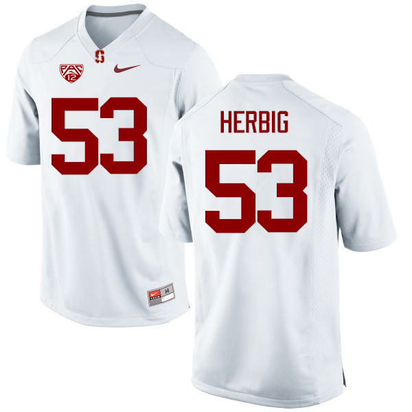 Men Stanford Cardinal #53 Nate Herbig College Football Jerseys Sale-White