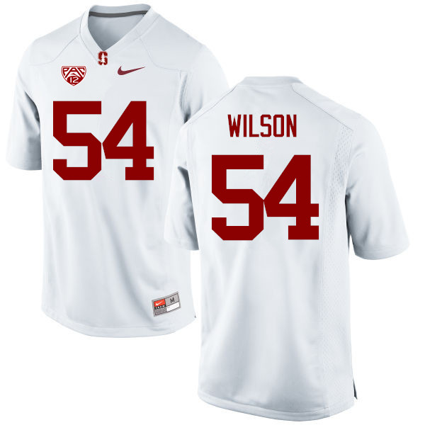 Men Stanford Cardinal #54 Nick Wilson College Football Jerseys Sale-White