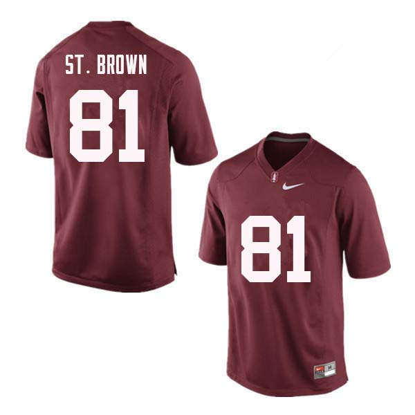 Men Stanford Cardinal #81 Osiris St. Brown College Football Jerseys Sale-Red