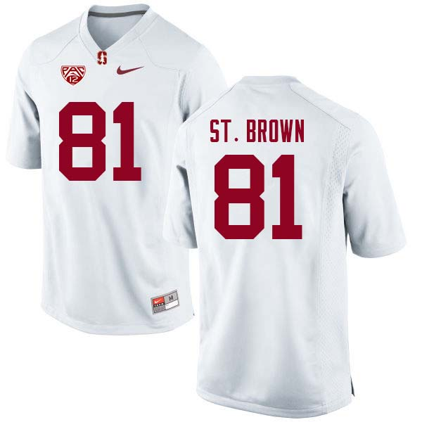 Men Stanford Cardinal #81 Osiris St. Brown College Football Jerseys Sale-White