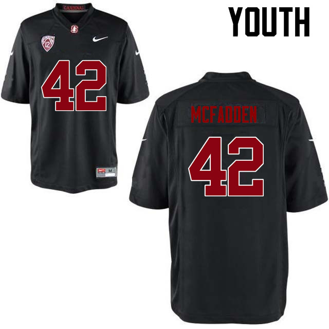 Youth Stanford Cardinal #42 Pat McFadden College Football Jerseys Sale-Black