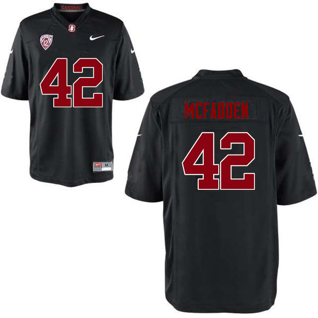 Men Stanford Cardinal #42 Pat McFadden College Football Jerseys Sale-Black