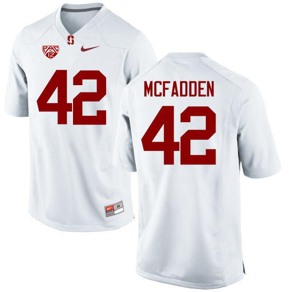 Men Stanford Cardinal #42 Pat McFadden College Football Jerseys Sale-White