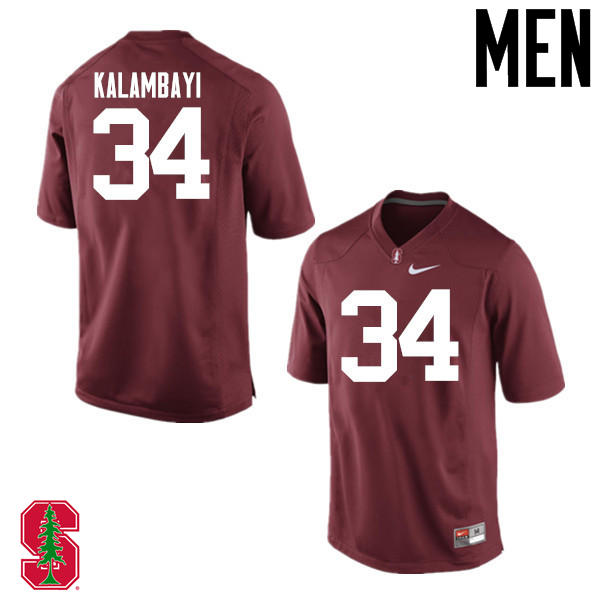 Men Stanford Cardinal #34 Peter Kalambayi College Football Jerseys Sale-Cardinal