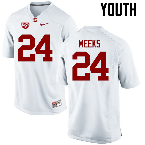 Youth Stanford Cardinal #24 Quenton Meeks College Football Jerseys Sale-White
