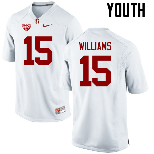 Youth Stanford Cardinal #15 Reagan Williams College Football Jerseys Sale-White