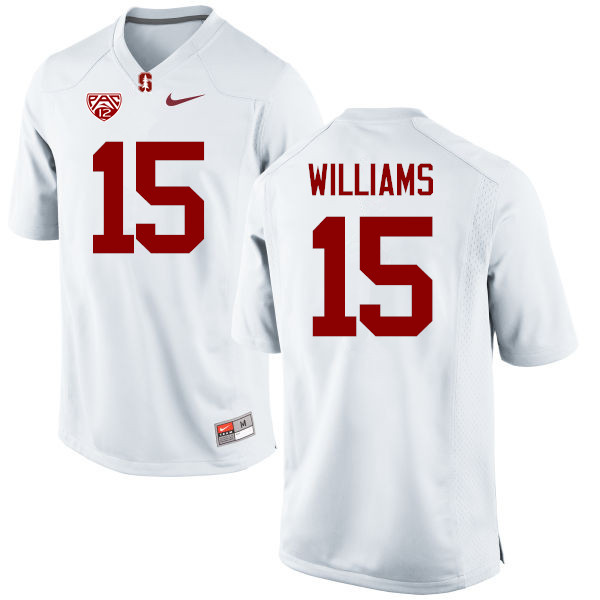 Men Stanford Cardinal #15 Reagan Williams College Football Jerseys Sale-White