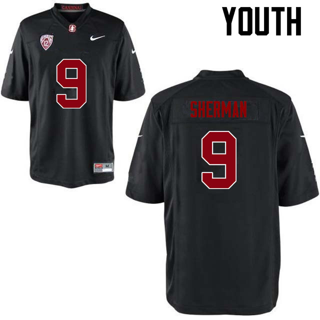 Youth Stanford Cardinal #9 Richard Sherman College Football Jerseys Sale-Black