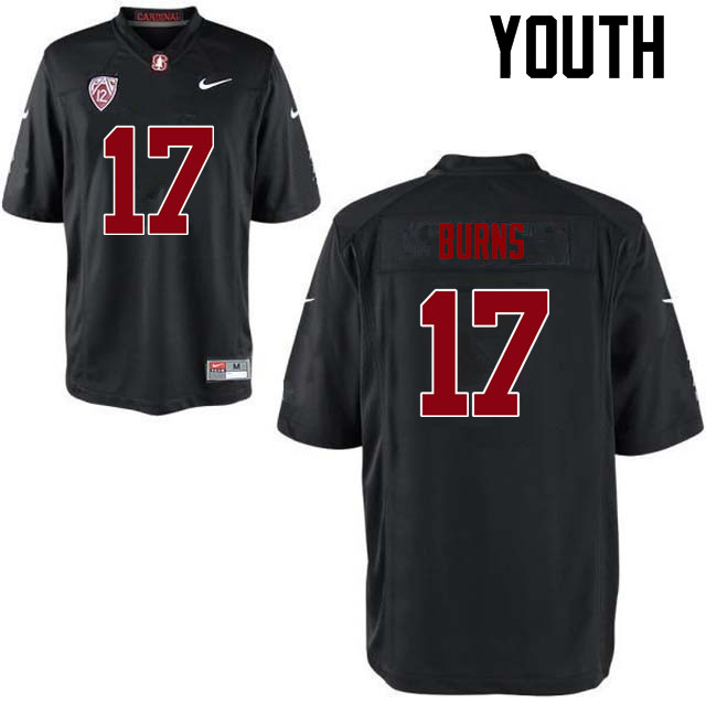 Youth Stanford Cardinal #17 Ryan Burns College Football Jerseys Sale-Black
