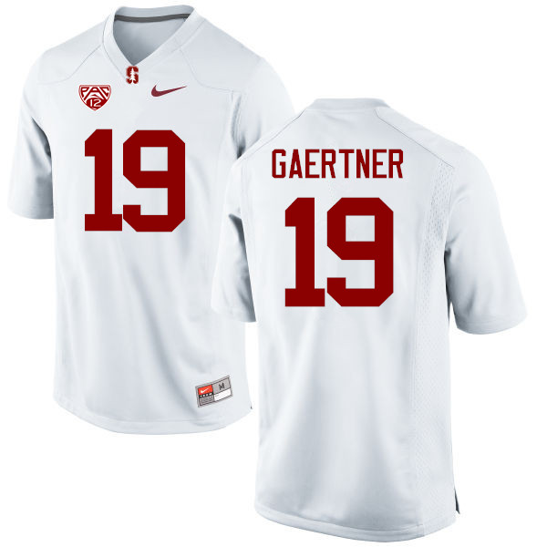 Men Stanford Cardinal #19 Ryan Gaertner College Football Jerseys Sale-White