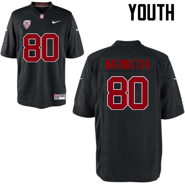 Youth Stanford Cardinal #80 Scooter Harrington College Football Jerseys Sale-Black