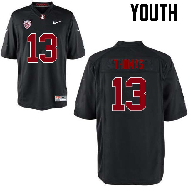 Youth Stanford Cardinal #13 Taijuan Thomas College Football Jerseys Sale-Black