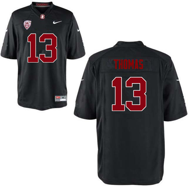 Men Stanford Cardinal #13 Taijuan Thomas College Football Jerseys Sale-Black