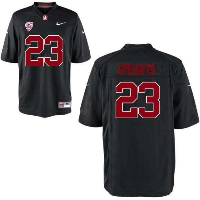 Men Stanford Cardinal #23 Trevor Speights College Football Jerseys Sale-Black