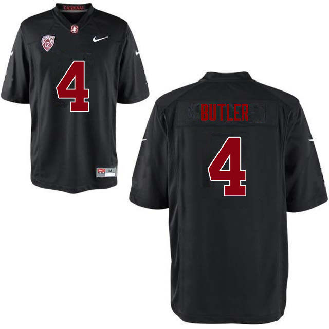 Men Stanford Cardinal #4 Treyjohn Butler College Football Jerseys Sale-Black