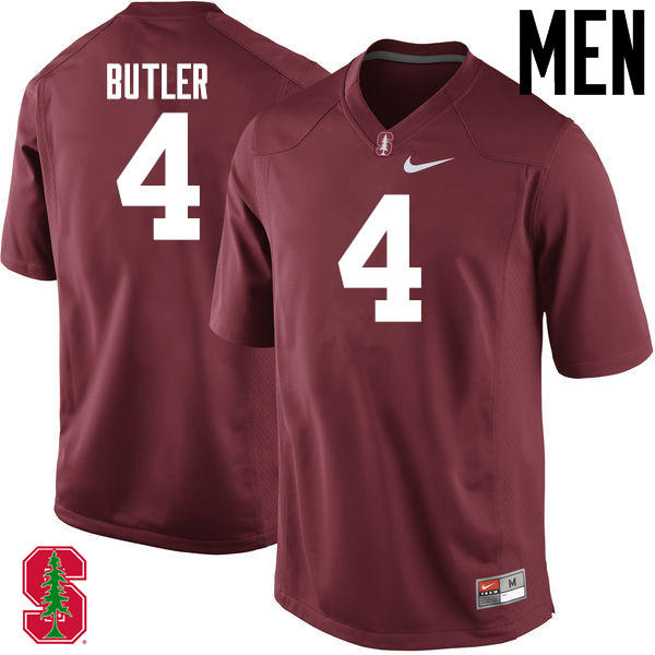 Men Stanford Cardinal #4 Treyjohn Butler College Football Jerseys Sale-Cardinal
