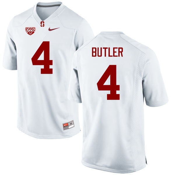 Men Stanford Cardinal #4 Treyjohn Butler College Football Jerseys Sale-White
