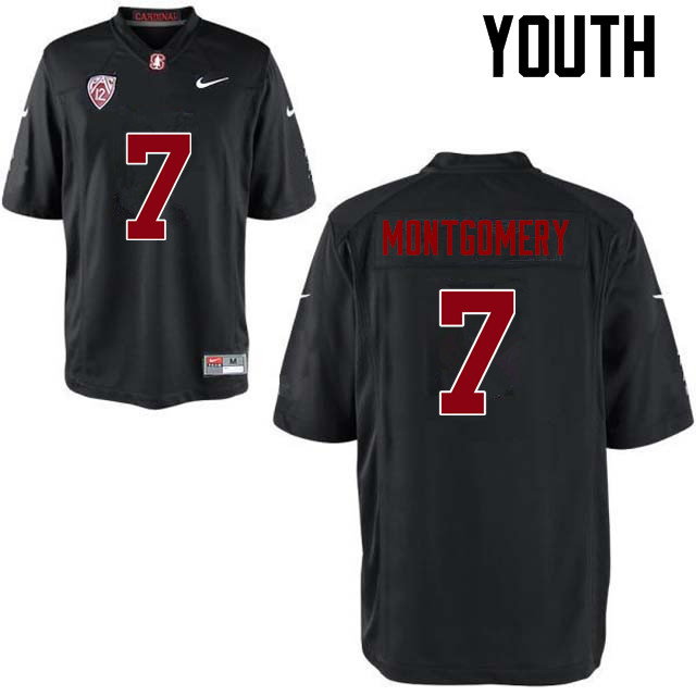 Youth Stanford Cardinal #7 Ty Montgomery College Football Jerseys Sale-Black