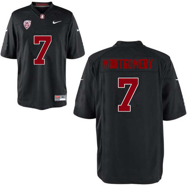Men Stanford Cardinal #7 Ty Montgomery College Football Jerseys Sale-Black