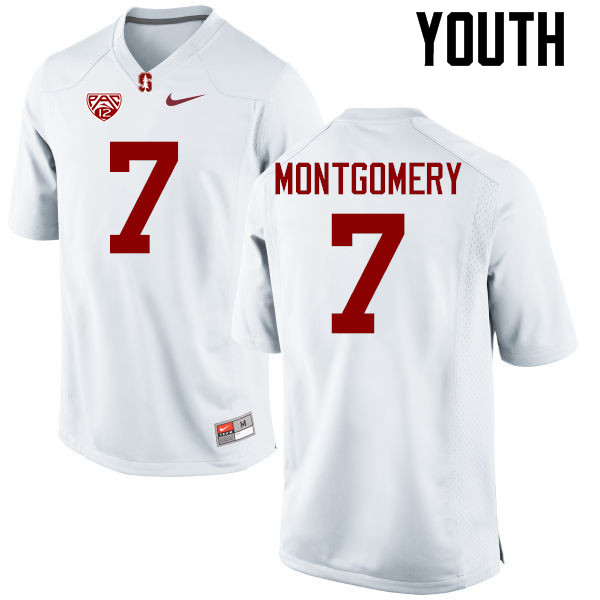 Youth Stanford Cardinal #7 Ty Montgomery College Football Jerseys Sale-White