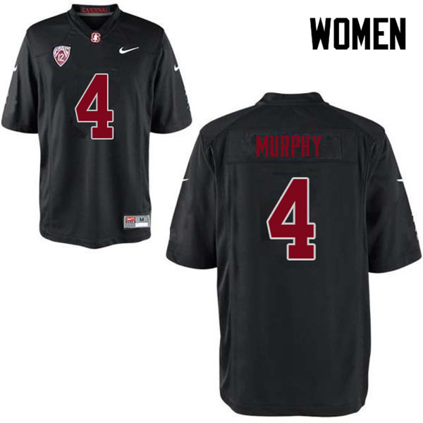 Women #4 Alameen Murphy Stanford Cardinal College Football Jerseys Sale-Black