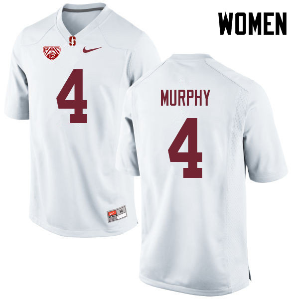 Women #4 Alameen Murphy Stanford Cardinal College Football Jerseys Sale-White
