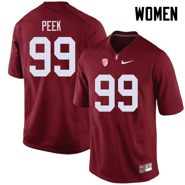 Women #99 Bo Peek Stanford Cardinal College Football Jerseys Sale-Cardinal