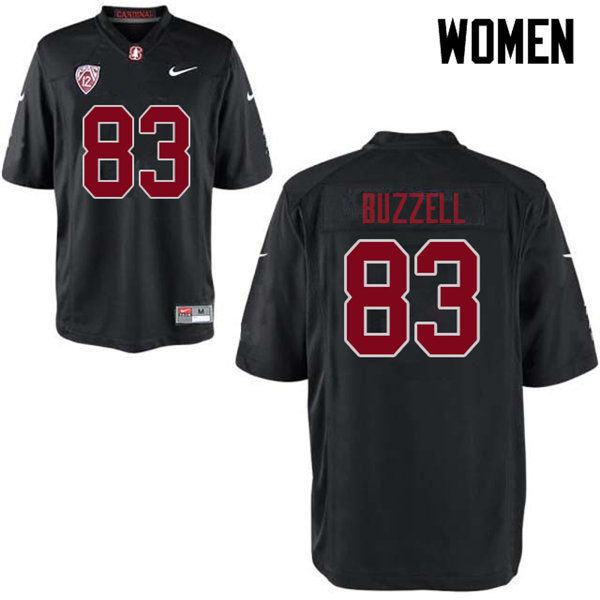 Women #83 Cameron Buzzell Stanford Cardinal College Football Jerseys Sale-Black