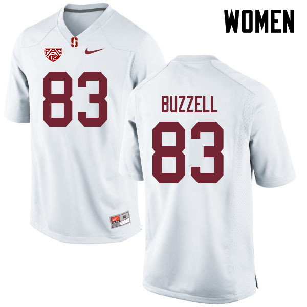 Women #83 Cameron Buzzell Stanford Cardinal College Football Jerseys Sale-White
