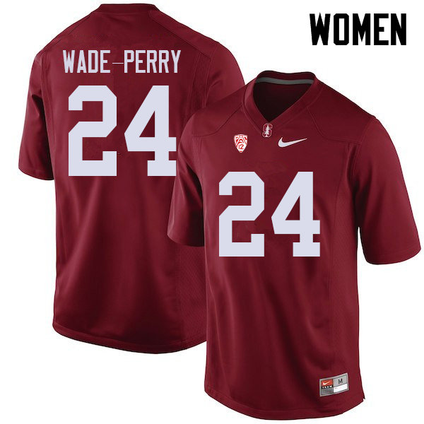Women #24 Dalyn Wade-Perry Stanford Cardinal College Football Jerseys Sale-Cardinal