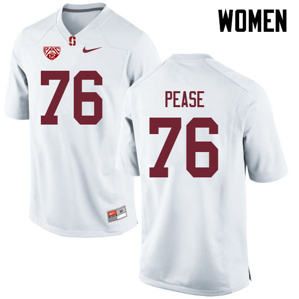 Women #76 Grant Pease Stanford Cardinal College Football Jerseys Sale-White