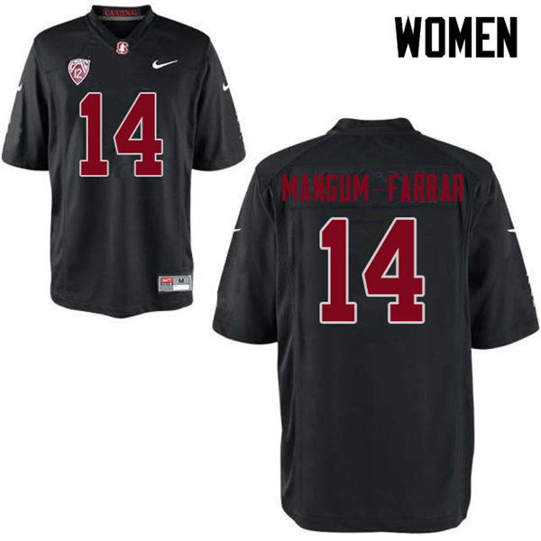 Women #14 Jacob Mangum-Farrar Stanford Cardinal College Football Jerseys Sale-Black