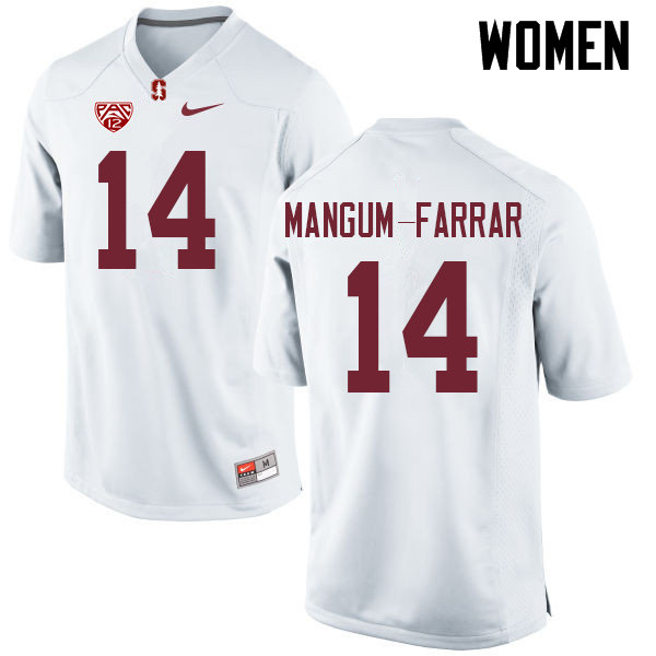 Women #14 Jacob Mangum-Farrar Stanford Cardinal College Football Jerseys Sale-White