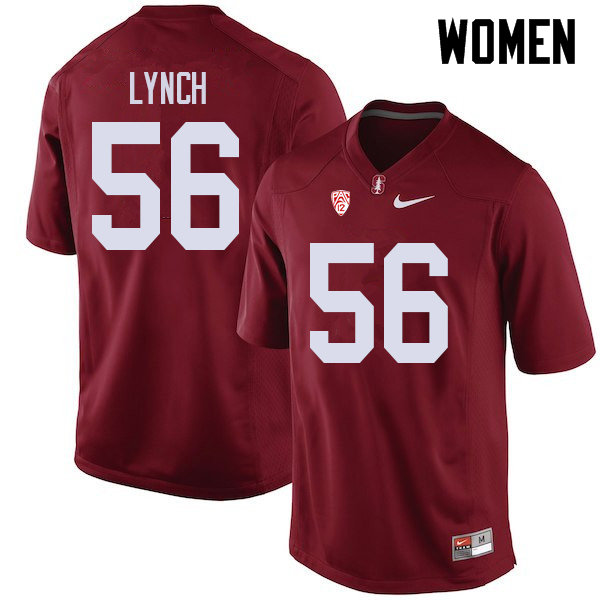 Women #56 Jake Lynch Stanford Cardinal College Football Jerseys Sale-Cardinal