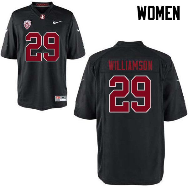 Women #29 Kendall Williamson Stanford Cardinal College Football Jerseys Sale-Black