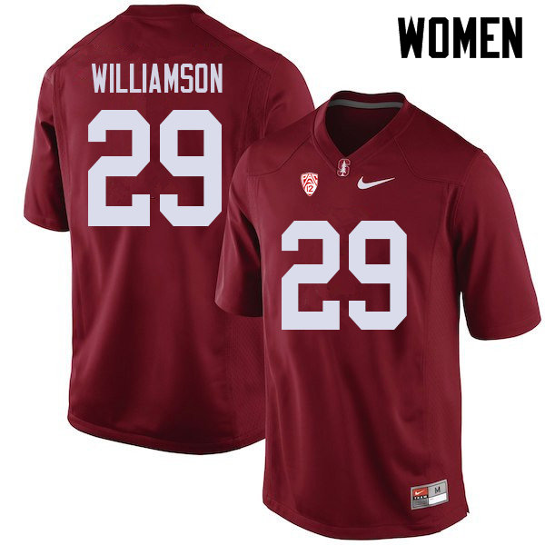 Women #29 Kendall Williamson Stanford Cardinal College Football Jerseys Sale-Cardinal