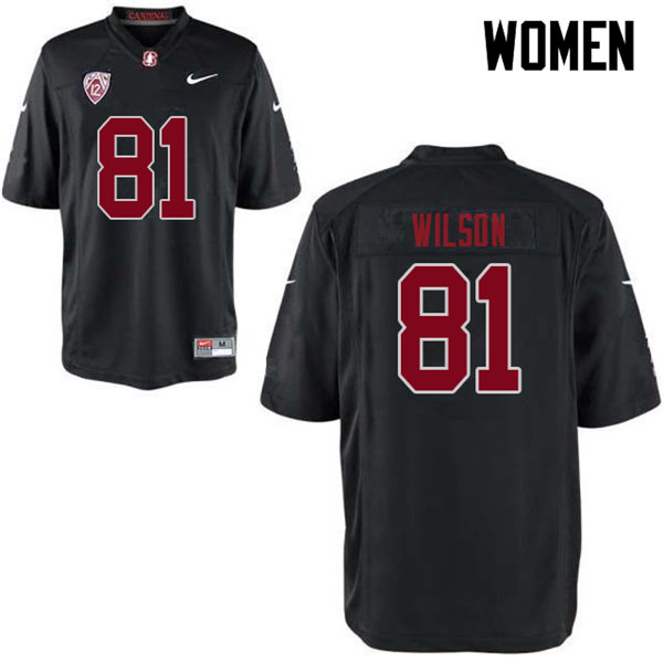 Women #81 Michael Wilson Stanford Cardinal College Football Jerseys Sale-Black