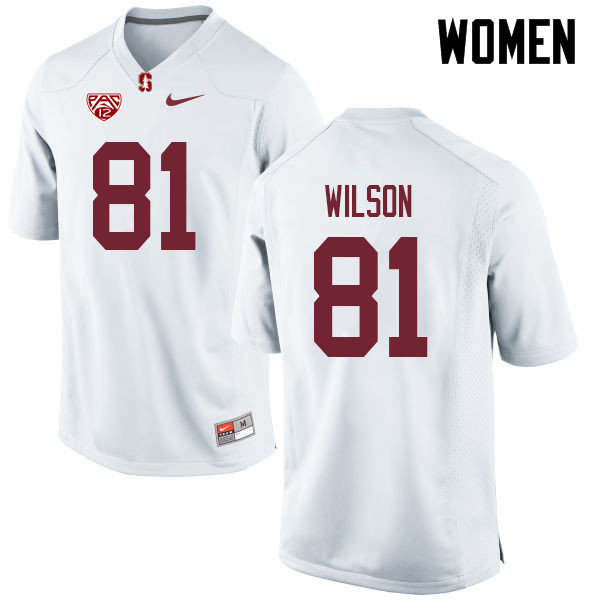 Women #81 Michael Wilson Stanford Cardinal College Football Jerseys Sale-White
