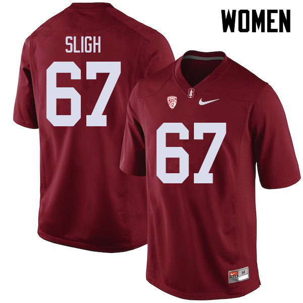 Women #67 Nicholas Sligh Stanford Cardinal College Football Jerseys Sale-Cardinal