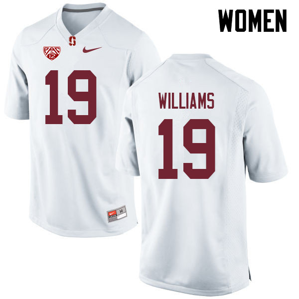 Women #19 Noah Williams Stanford Cardinal College Football Jerseys Sale-White