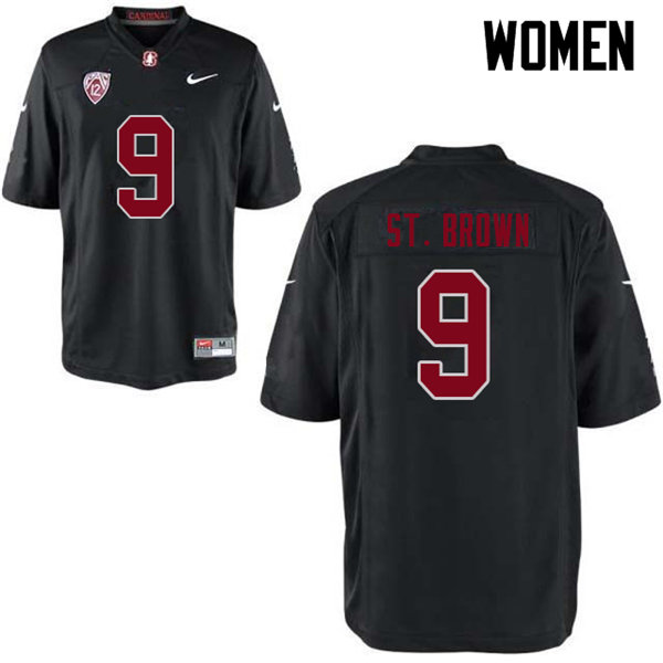 Women #9 Osiris St. Brown Stanford Cardinal College Football Jerseys Sale-Black