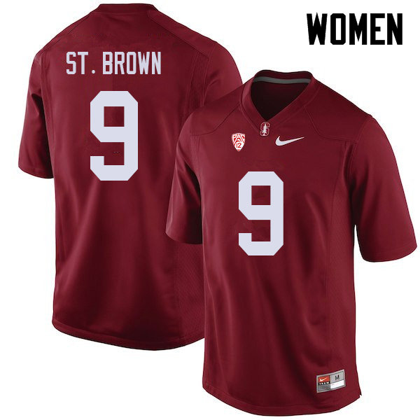 Women #9 Osiris St. Brown Stanford Cardinal College Football Jerseys Sale-Cardinal