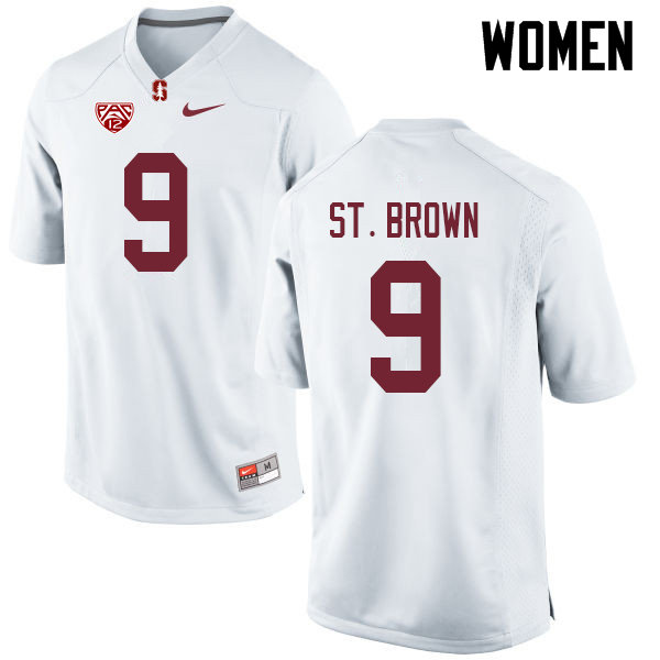 Women #9 Osiris St. Brown Stanford Cardinal College Football Jerseys Sale-White