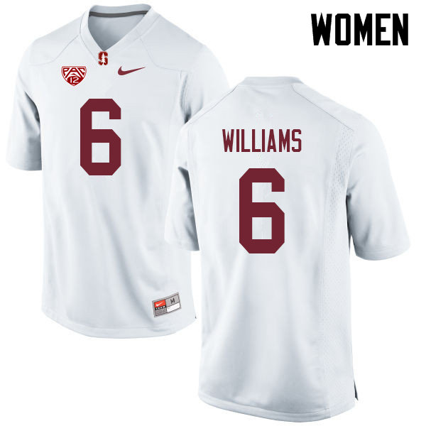 Women #6 Reagan Williams Stanford Cardinal College Football Jerseys Sale-White
