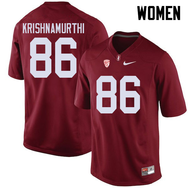 Women #86 Sidhart Krishnamurthi Stanford Cardinal College Football Jerseys Sale-Cardinal