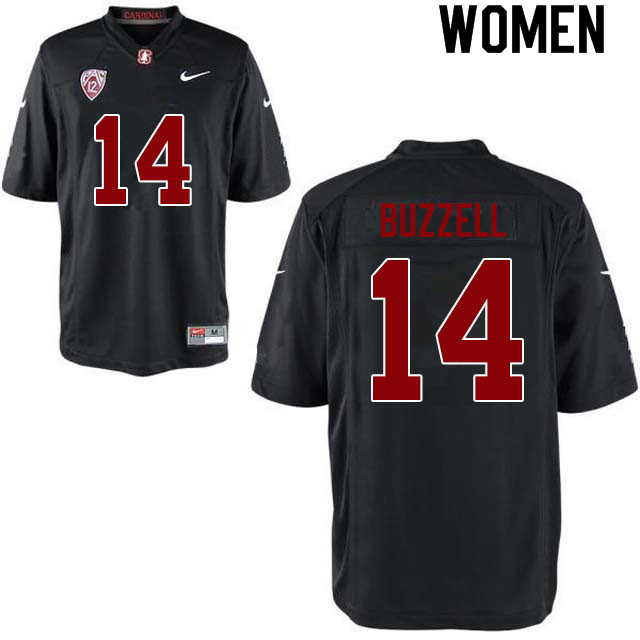 Women #14 Cameron Buzzell Stanford Cardinal College Football Jerseys Sale-Black