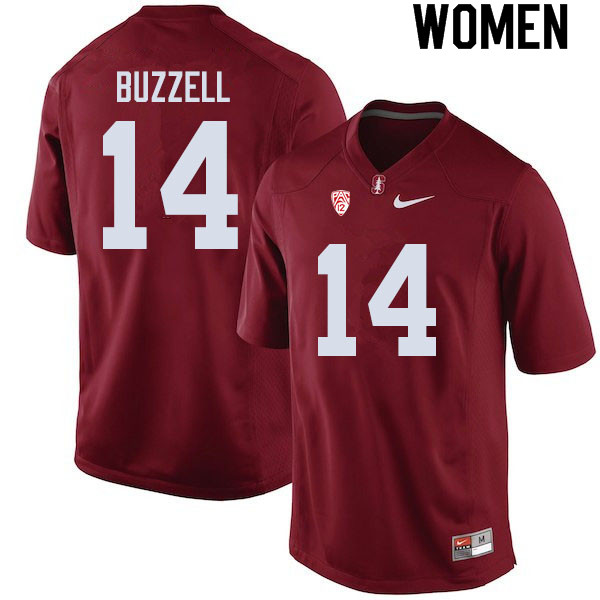 Women #14 Cameron Buzzell Stanford Cardinal College Football Jerseys Sale-Cardinal
