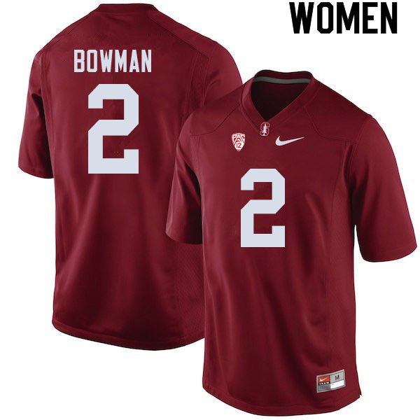 Women #2 Colby Bowman Stanford Cardinal College Football Jerseys Sale-Cardinal