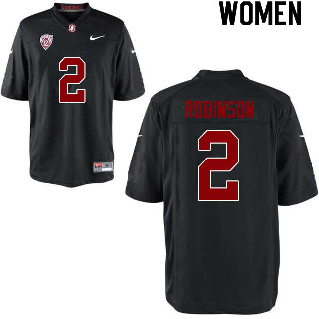 Women #2 Curtis Robinson Stanford Cardinal College Football Jerseys Sale-Black